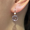 Thumbnail: Amethyst and Cultured Pearl Earrings