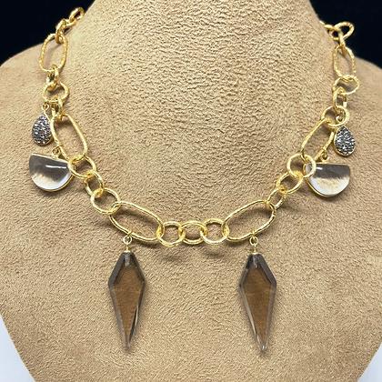 Crystal Quartz Drop Necklace