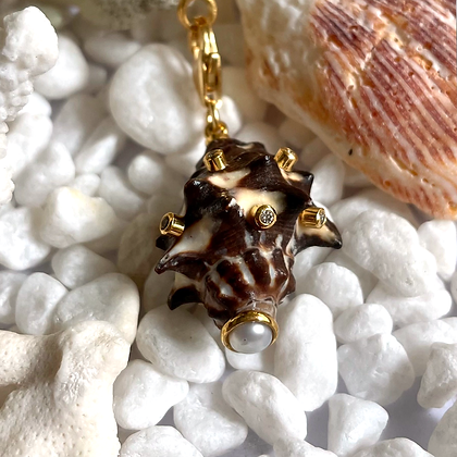 Brown Spikey Shell Charm
