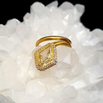 Ophidia Diamond Hexagon Ring