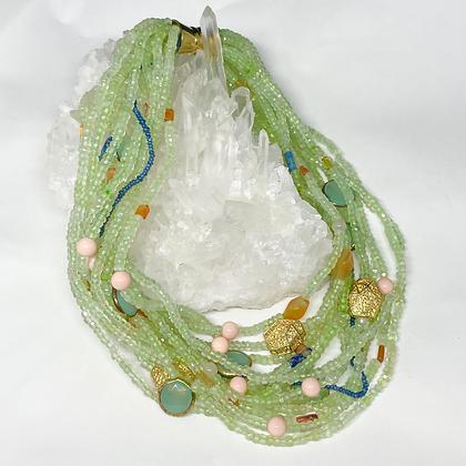 Green Quartz Strand Necklace