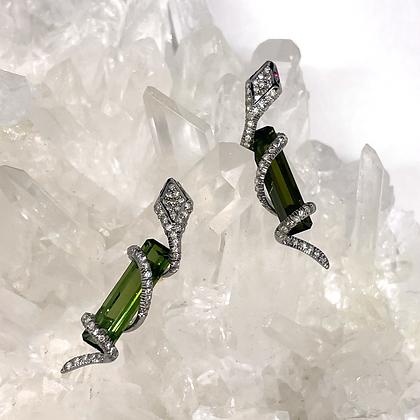 Ophidia Green Tourmaline Earrings