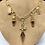 Thumbnail: Citrine Bullet and Smoky Topaz Dangler Necklace