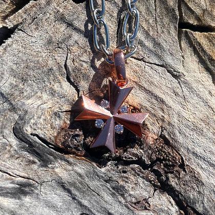 Rose Gold Maltese Cross Charm