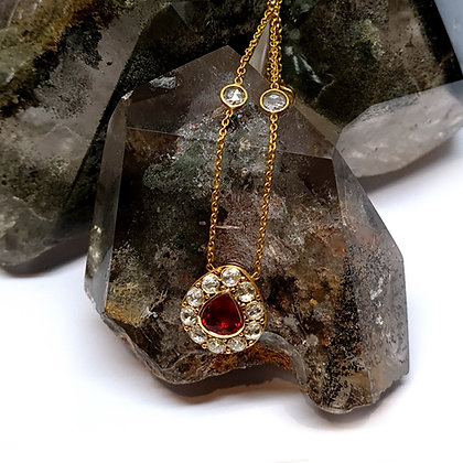 Ruby Pear Shape Necklace