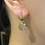Thumbnail: White Topaz and Peridot Earrings