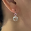 Thumbnail: White Topaz and Pink Sapphire Earrings