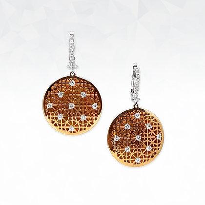Arabic Round Disc Earrings