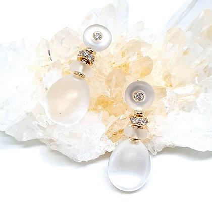Round Crystal Earrings