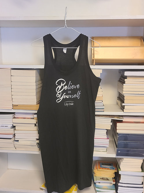 Believe in Yourself Racer Back Tank Dress