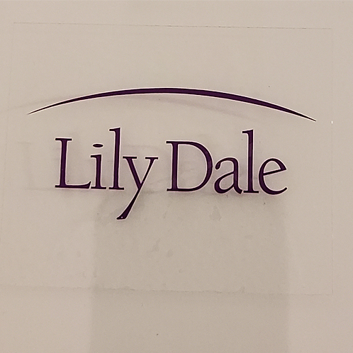 Lily Dale Logo Window Cling