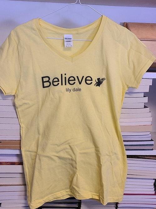 Believe V-Neck T Shirt