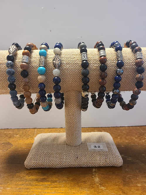 Men's Gemstone Bracelets from Lily Dale