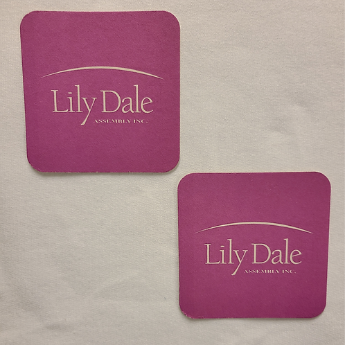 Lily Dale Logo Coaster