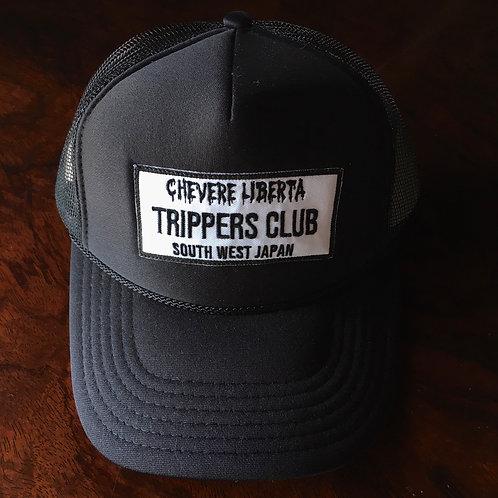 オリジナルワッペン 【TRIPPERS CLUB】OTTO メッシュキャップ ブラック