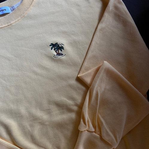 【ヤシの木】 オリジナル刺繍 薄手トレーナー