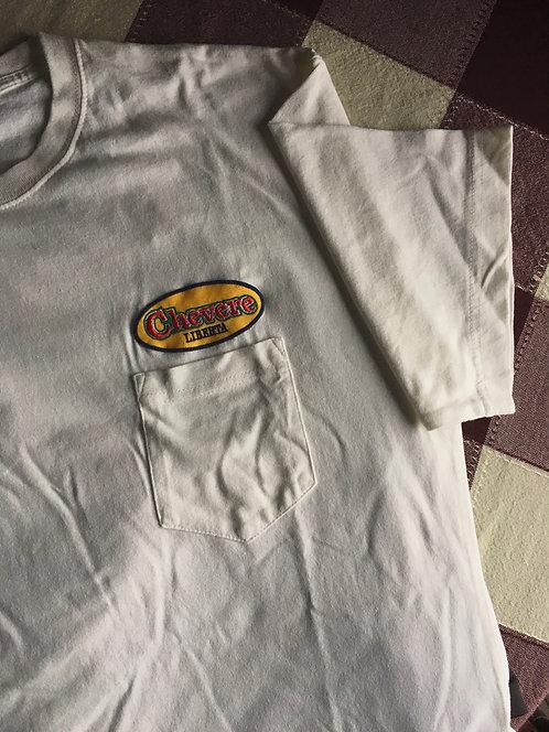chevere LIBERTA オリジナルワッペン ポケットTシャツ 【WH】
