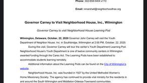 Gov. Carney to Visit Neighborhood House