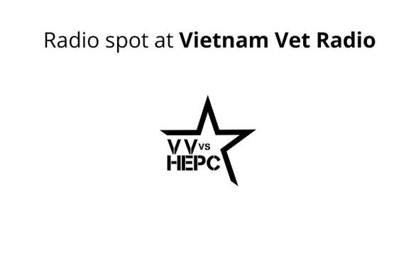 Radio spot at Vietnam Vet Radio