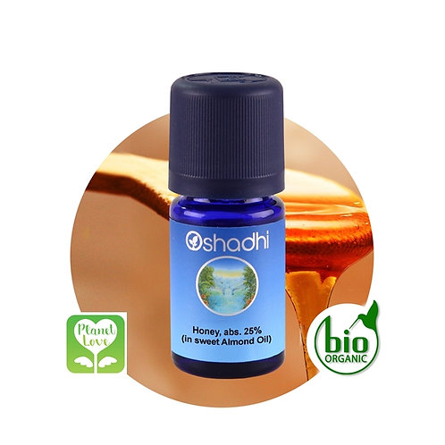 Honey, abs. 25% (in sweet Almond Oil) 蜂蜜原精 25% (在甜杏仁油中) 5ml
