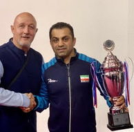 Pictured with Iranian Head Coach Gholamreza Mohamaadi