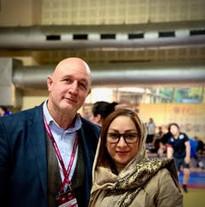 With Sports Development United World Wrestling Farnaz Panahizadeh