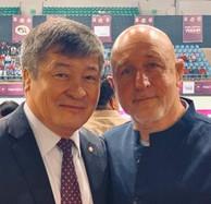 With Daulet Turlykhanov President for UWW Asia Wrestling