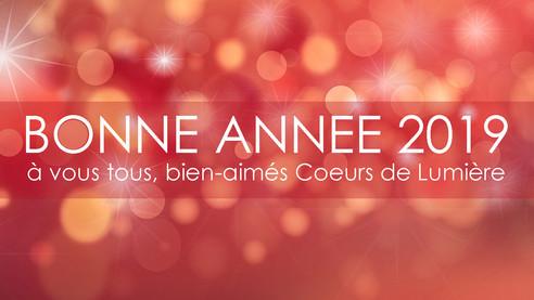 La joie de vous souhaiter nos vœux pour cette nouvelle année