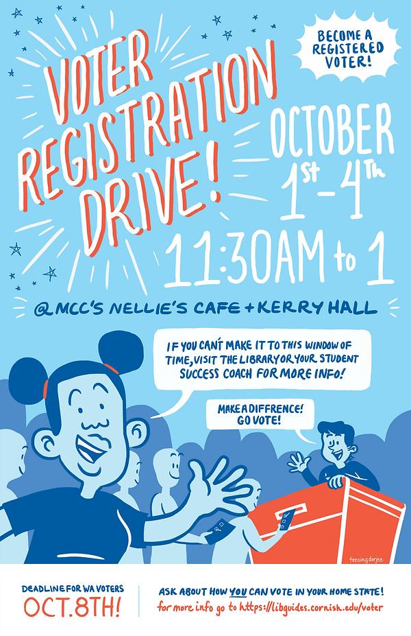 Voters Registration Poster Library Sept