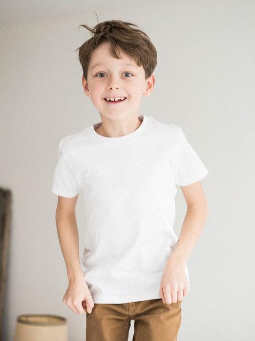 Tee-shirt enfant brodé main personnalisable