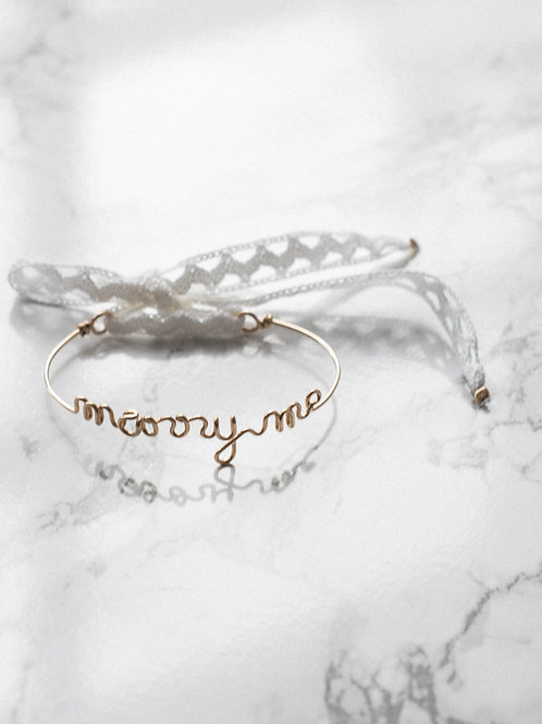 "Bracelet ""marry me"" Buttée. Paris x Padam Padam"