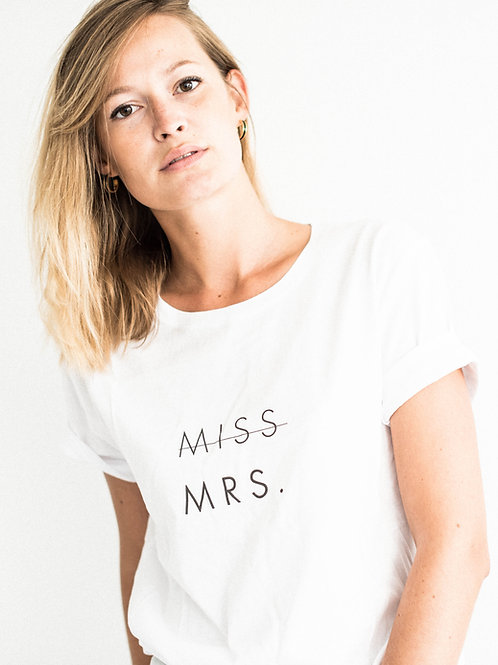 "Tee-shirt ""MISS MRS."""