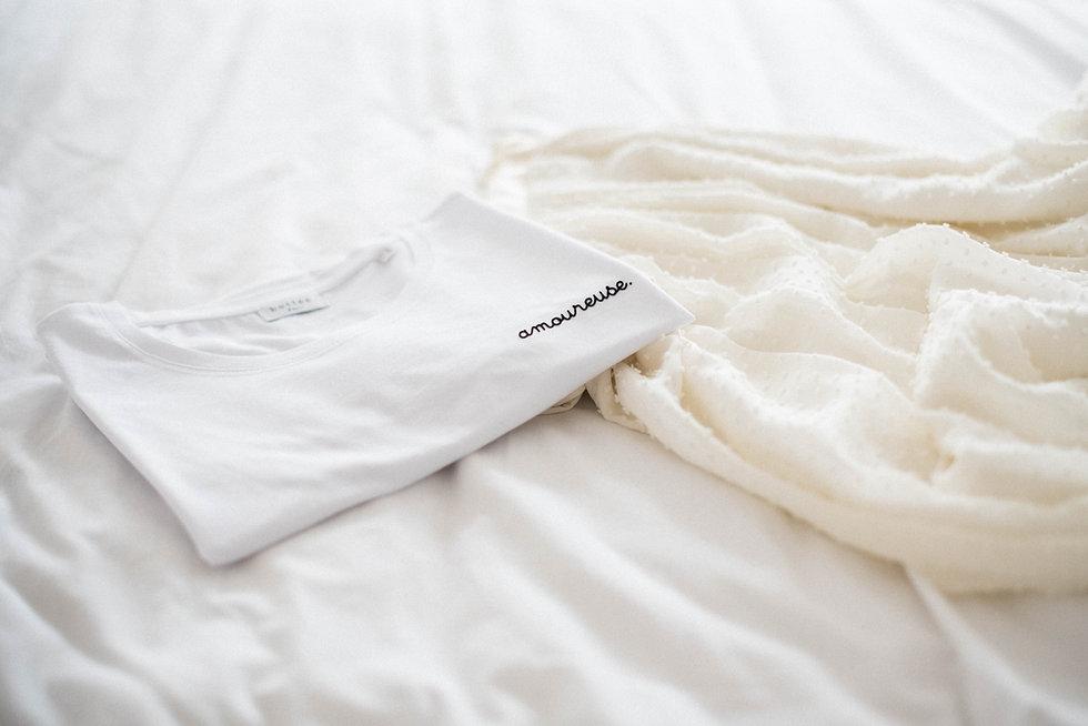 "Teeshirt ""amoureuse."" en coton biologique"