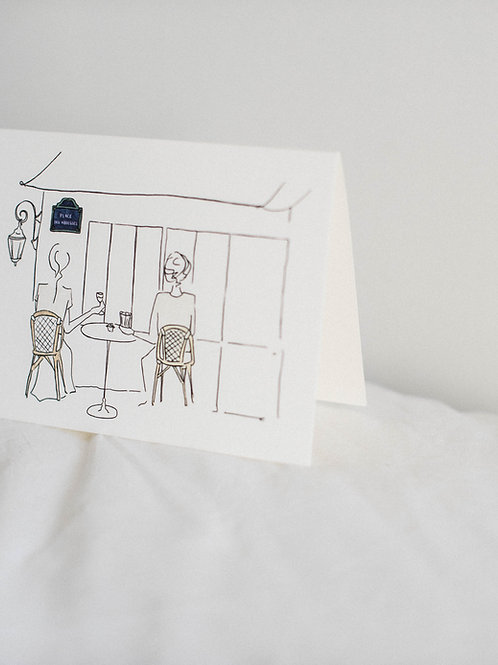 Carte de voeux Montmartre - Aux Abbesses