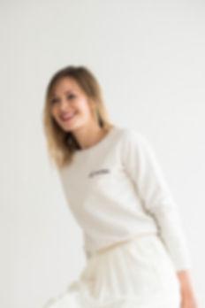 """Sweatshirt """"la mariée."""" en coton biologique"""