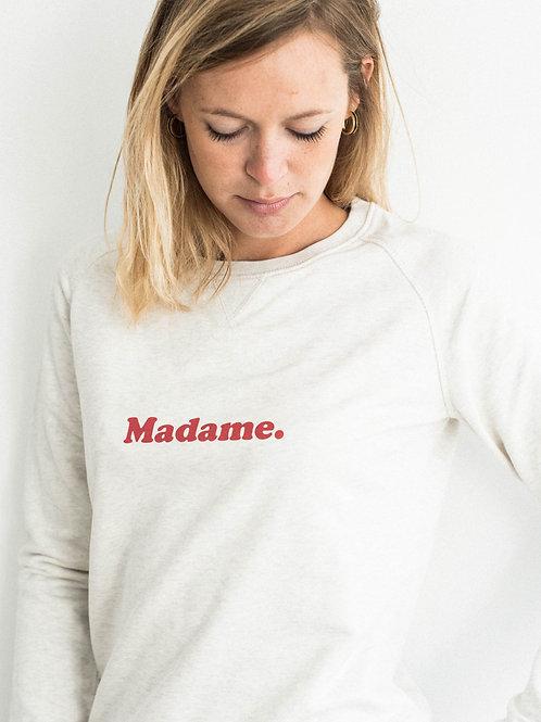 """Sweatshirt """"madame."""" vermeil"""