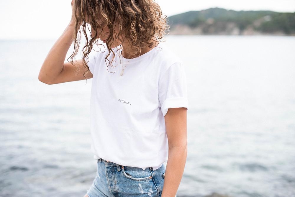"""Tee-shirt """"madame."""" by Buttée. Paris"""