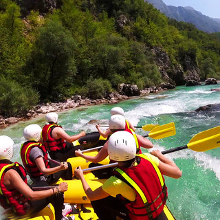 Rafting on the Soča River