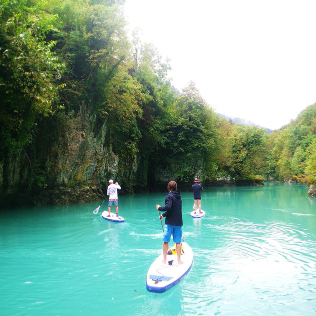 Discovering Soča River by sup