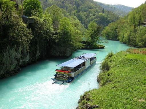 The tourist paddle wheeler Lucija