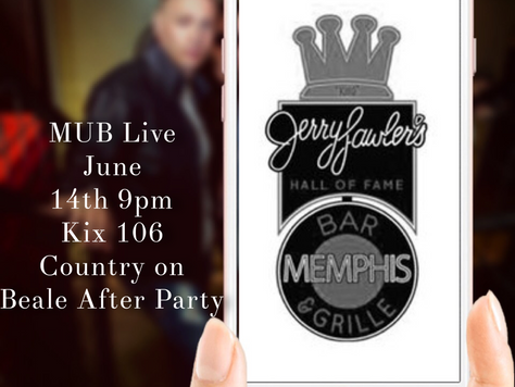 Catch the MUB Live at Jerry Lawlers Bar and Grill, 159 Beale St. Memphis TN.  June 14, 9pm