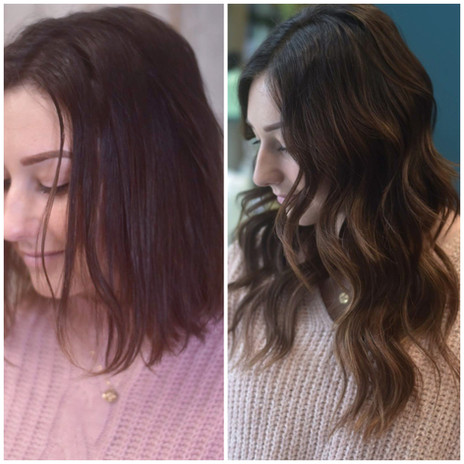 Before and after 2.5 rows of custom extensions