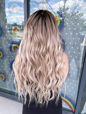 3 rows of custom colored and blended extensions for maximum length and volume!