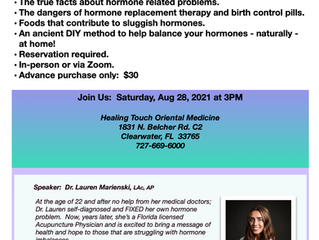 Balancing Hormones Naturally!  ON SALE - only 15!!  Join us!