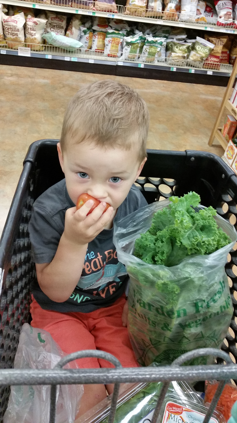 Kids will eat anything when they're hungry - adults too!