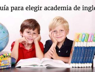 Factores relevantes antes de elegir academia de inglés