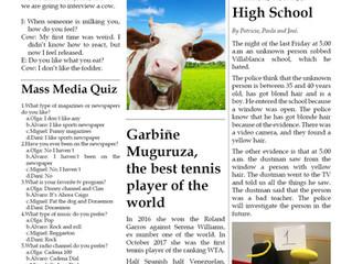 Creamos nuestro periódico en el proyecto de Mass Media