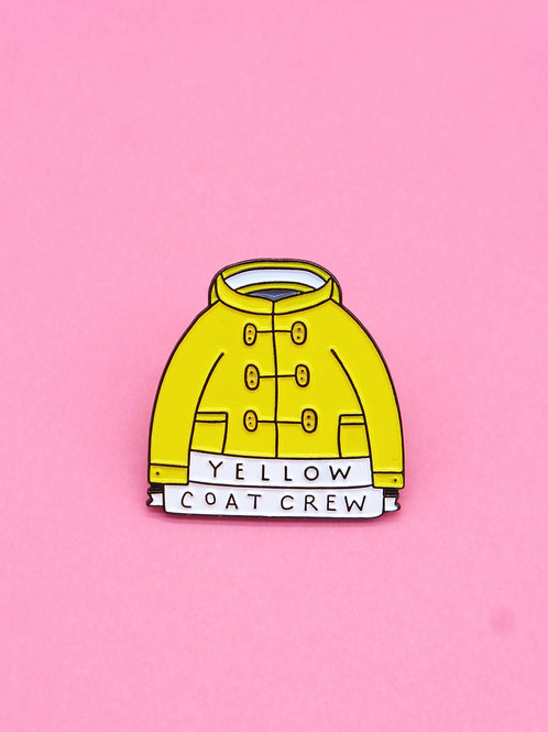 Yellow Coat Crew Enamel Pin