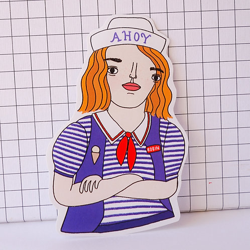 Robin Scoops Ahoy - Gloss Paper Sticker