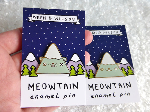 Meowtain Enamel Pin